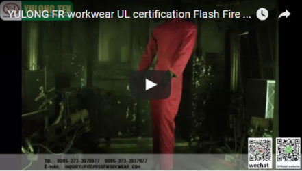 Yulong FR workwear UL certification Flash Fire Test
