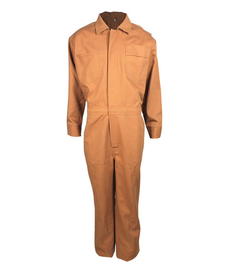 water and oil repellent coveralls