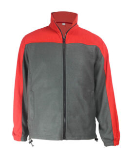 red grey fleece fire resistant jacket