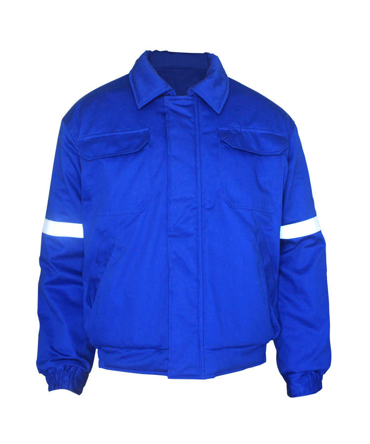 royal blue winter flame resistant jacket