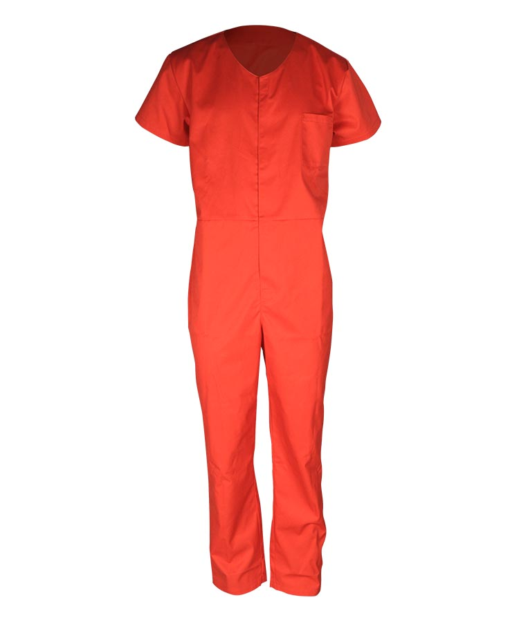 water repellent short sleeves coverall