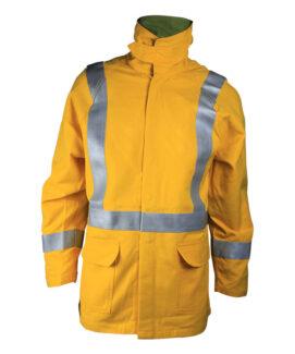 Yellow Arc Poof Jacket