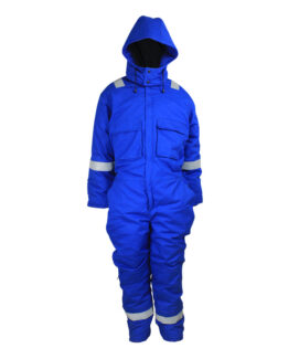 royal blue flame resistant coverall